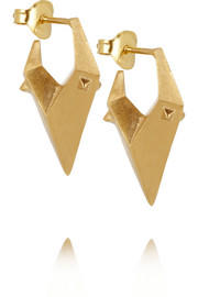 Maria Black China Girl gold-plated earrings