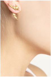 Maria Black Ziggy and Ziggy Reverse gold-plated earrings
