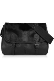 Bottega Veneta Gardena leather and calf hair shoulder bag