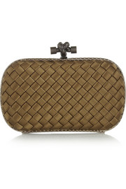 Bottega Veneta The Knot ayers-trimmed intrecciato satin clutch