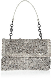 Bottega Veneta Olimpia intrecciato ayers shoulder bag