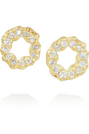 SCOSHA 14-karat gold diamond earrings