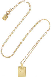 SCOSHA 10-karat gold tag necklace