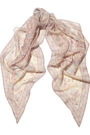 Kate Moss for Topshop Paisley-print chiffon scarf