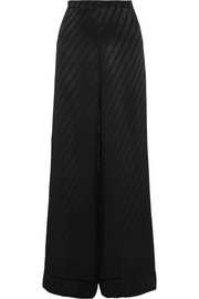 Kate Moss for Topshop Striped satin wide-leg pants