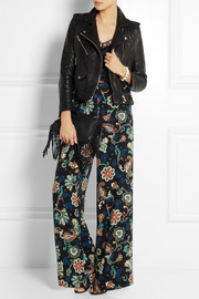 Kate Moss for Topshop Paisley-print crepe wide-leg pants