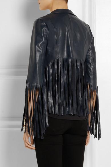 1cb8b98d7 Fringed leather jacket