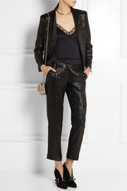 Kate Moss for Topshop Metallic jacquard straight-leg pants