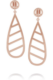 Arme De L'Amour Rose gold-plated teardrop earrings