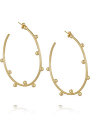 Arme De L'Amour Gold-plated hoop earrings