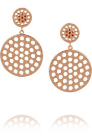 Arme De L'Amour Rose gold-plated earrings