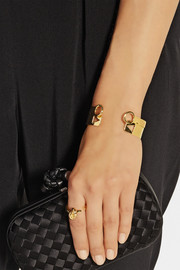 Arme De L'Amour Set of two gold-plated cuffs