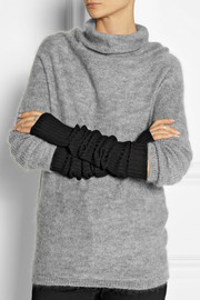 Rick Owens Ribbed wool arm warmers