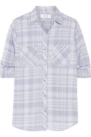 MiH Jeans The Double Pocket plaid cotton shirt