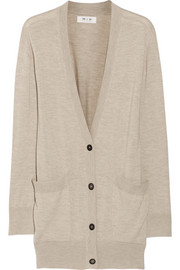 MiH Jeans The Long Slouch wool, silk and cashmere-blend cardigan