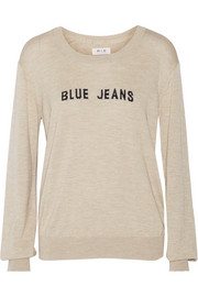 MiH Jeans The Bella intarsia wool, silk and cashmere-blend sweater