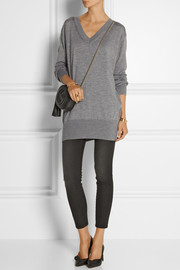 MiH Jeans The Long Vee merino wool, silk and cashmere-blend sweater