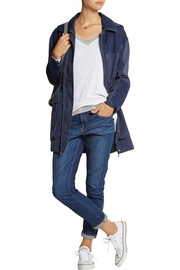 MiH Jeans The Chevron denim-paneled cotton parka