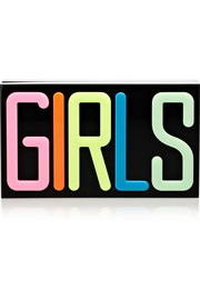 Girls Perspex clutch