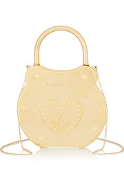 Chastity gold-tone clutch