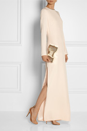 Charlotte Olympia Tight Laced ribbon-embellished gold-tone clutch