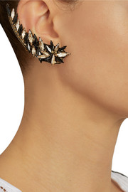 Erickson Beamon Golden Rule gold-plated Swarovski crystal ear cuffs