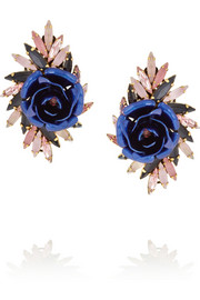 Erickson Beamon Urban Jungle gold-plated Swarovski crystal earrings