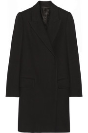 Fessing cotton and wool-blend twill coat