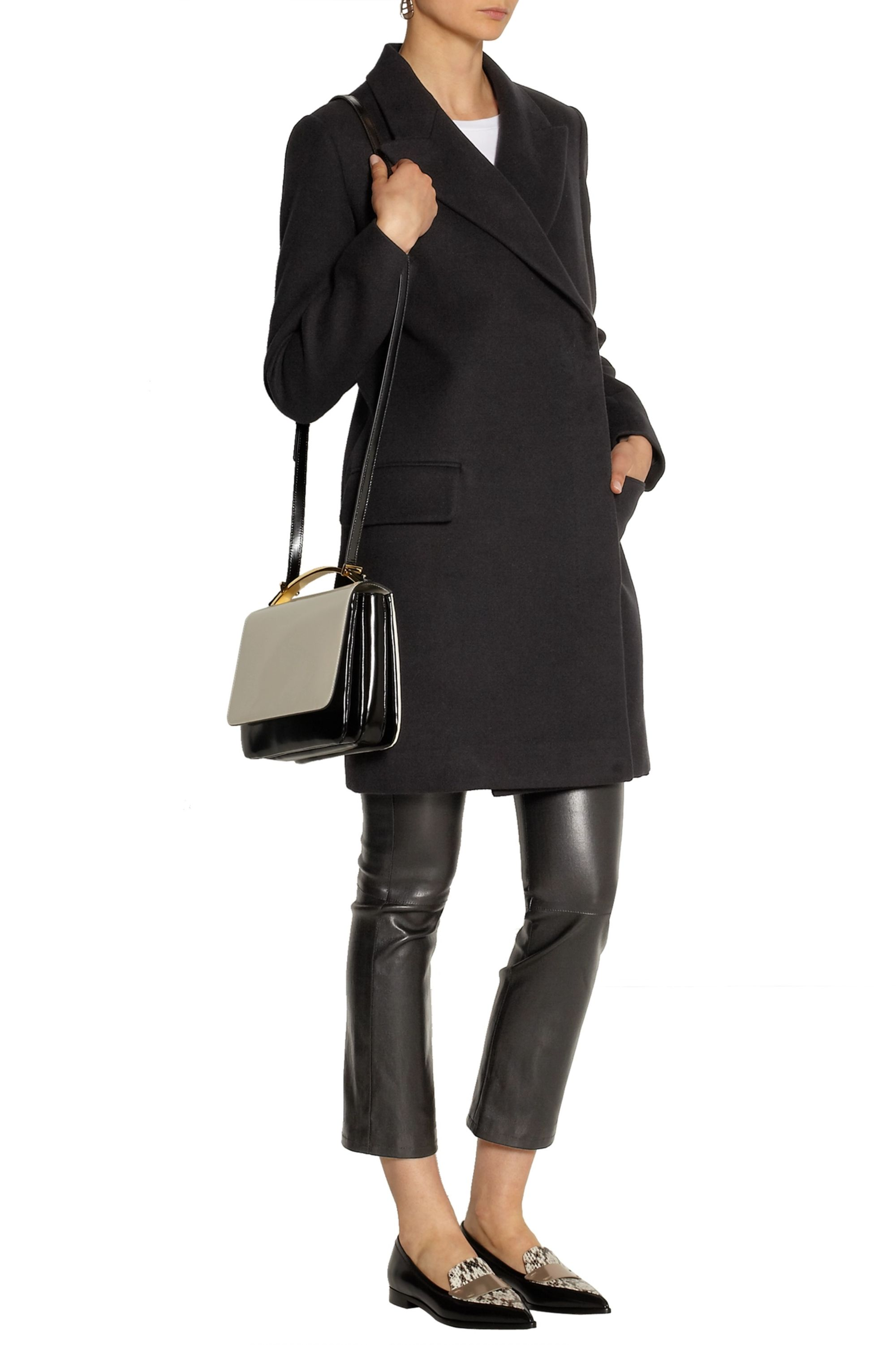 The Row Fessing cotton and wool-blend twill coat