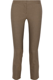 The Row Strenner houndstooth stretch-cotton skinny pants