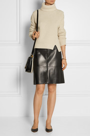 The Row Curlan paneled leather skirt