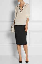 The Row Caitlin scuba-jersey pencil skirt