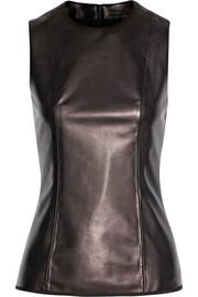 The Row Linuk paneled leather top