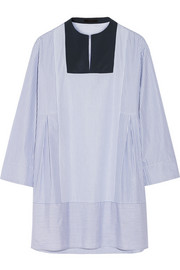The Row Armet striped cotton-poplin tunic