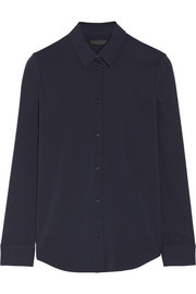 The Row Peter stretch-silk shirt