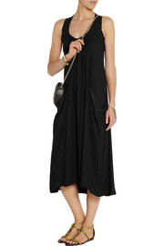 Donna Karan Draped stretch-crepe midi dress