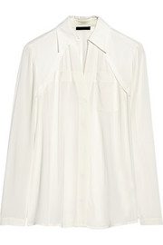 Donna Karan Stretch-crepe shirt