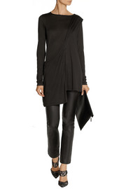 Donna Karan Casual Luxe asymmetric jersey top
