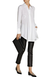Donna Karan Cotton-blend poplin tunic
