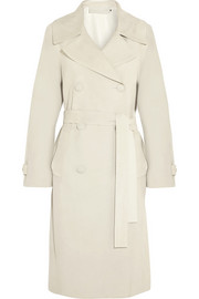 Donna Karan Oversized suede trench coat