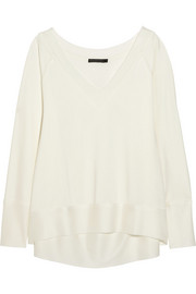 Donna Karan Stretch-jersey crepe top