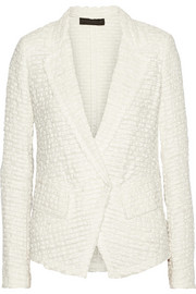 Donna Karan Linen and cotton-blend tweed jacket