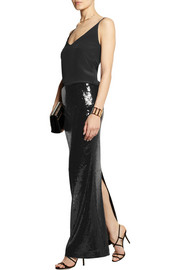 Donna Karan Sequined stretch maxi skirt