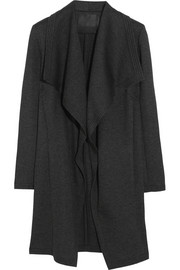 Donna Karan Draped scuba-jersey coat