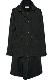 Donna Karan Convertible padded twill and cotton-blend jacket