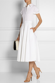 Michael Kors Stretch-cotton poplin midi dress