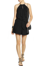Michael Kors Draped silk-georgette top