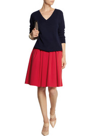 Michael Kors Stretch-cotton poplin skirt
