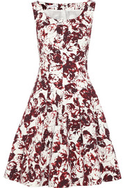 Oscar de la Renta Printed cotton-blend dress