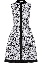 Oscar de la Renta Printed stretch-cotton shirt dress